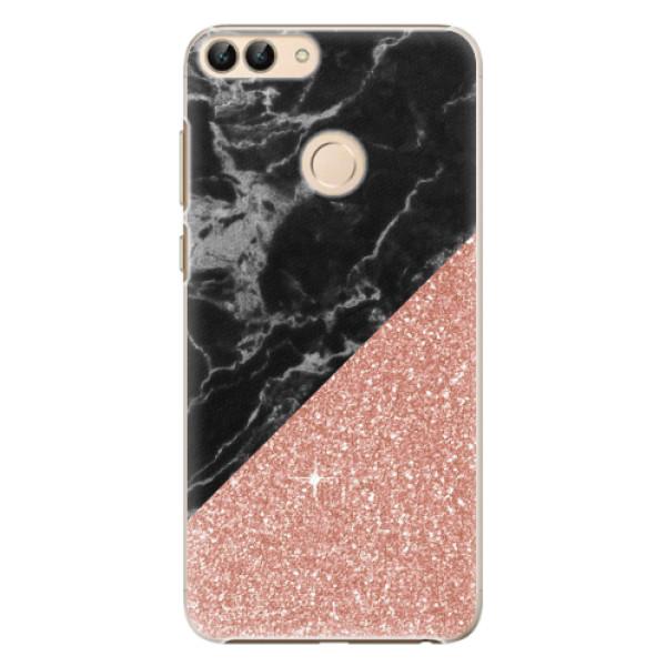 Plastové pouzdro iSaprio - Rose and Black Marble - Huawei P Smart