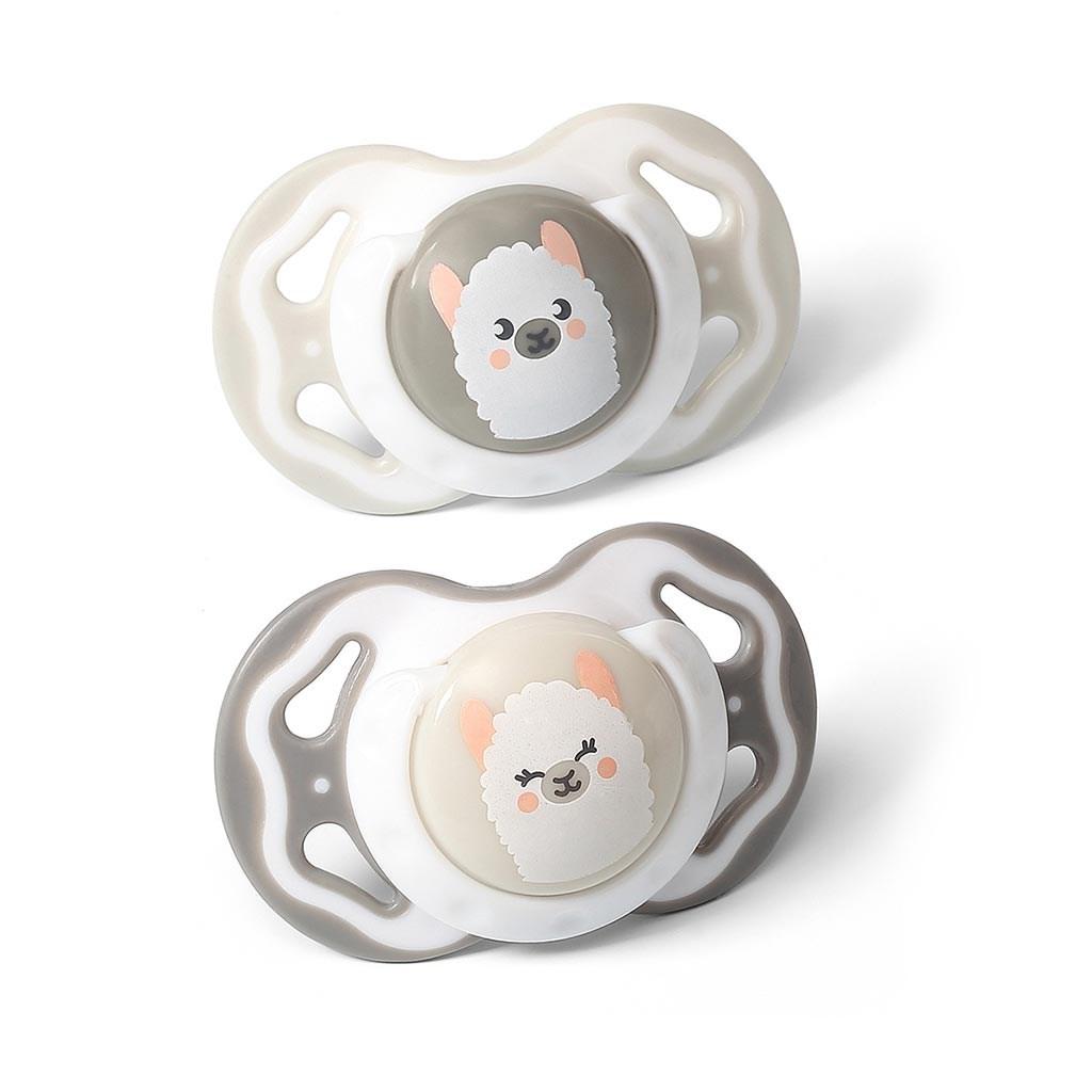 Symetrický dudlík Baby Ono 3-6m 2ks šedý a béžový - šedá