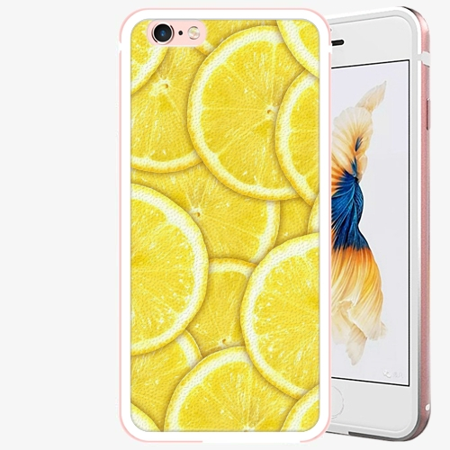 Plastový kryt iSaprio - Yellow - iPhone 6 Plus/6S Plus - Rose Gold