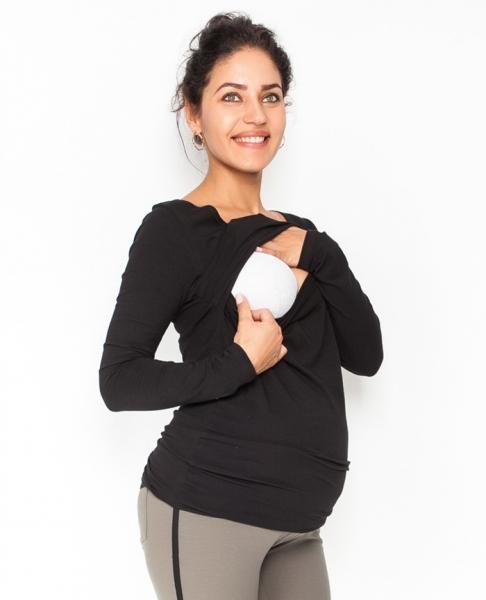 Be MaaMaa Těhotenské, kojící triko/halenka dlouhý rukáv Siena