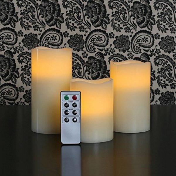 Svíčky na dálkové ovládání 3ks MULTICOLOR