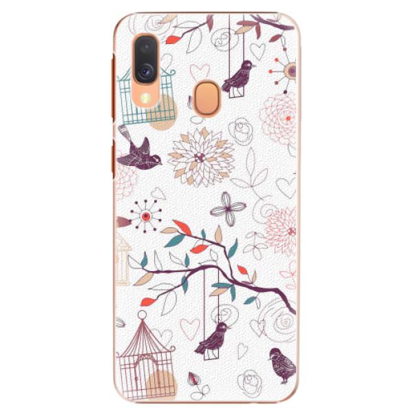 Plastové pouzdro iSaprio - Birds - Samsung Galaxy A40