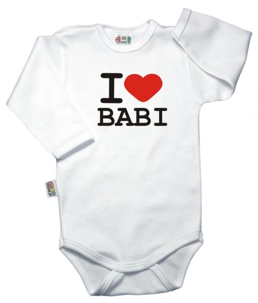 Body dl. rukáv Kolekce I LOVE BABI