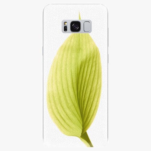 Silikonové pouzdro iSaprio - Green Leaf - Samsung Galaxy S8