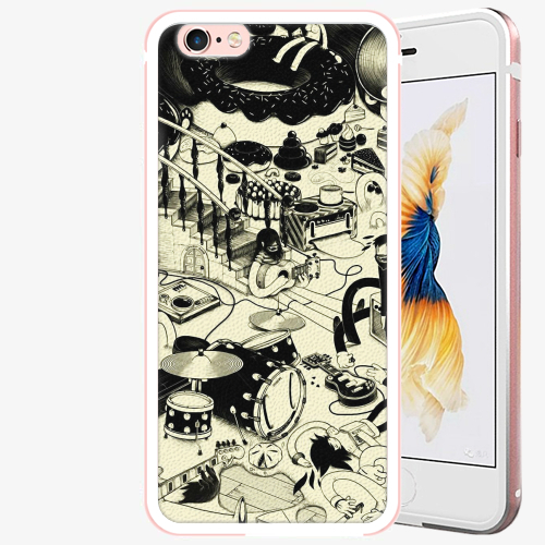 Plastový kryt iSaprio - Underground - iPhone 6 Plus/6S Plus - Rose Gold