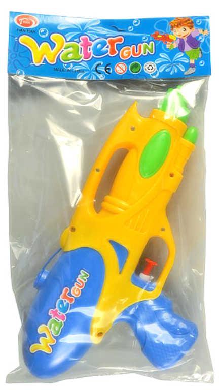 Pistole vodní 25cm se zásobníkem na vodu 3 barvy plast v sáčku