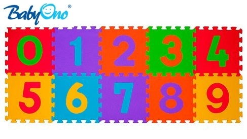 Pěnové puzzle Baby Ono - Čísla - 10ks