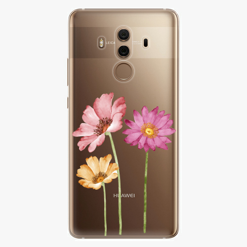 Plastový kryt iSaprio - Three Flowers - Huawei Mate 10 Pro