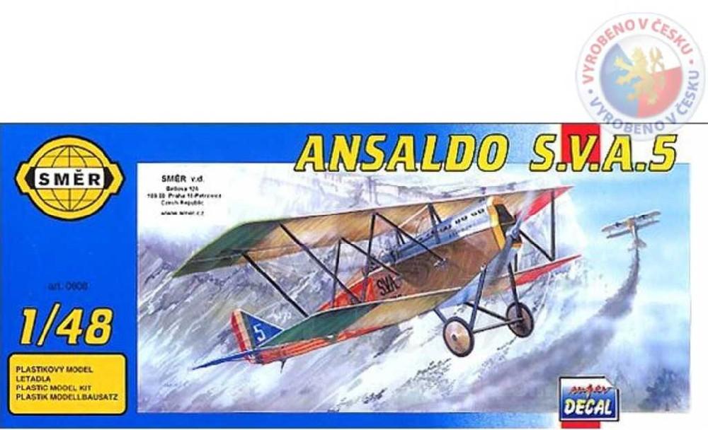 SMĚR Model letadlo Ansaldo SVA 5 1:48 (stavebnice letadla)