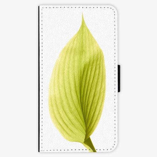Flipové pouzdro iSaprio - Green Leaf - Samsung Galaxy S7