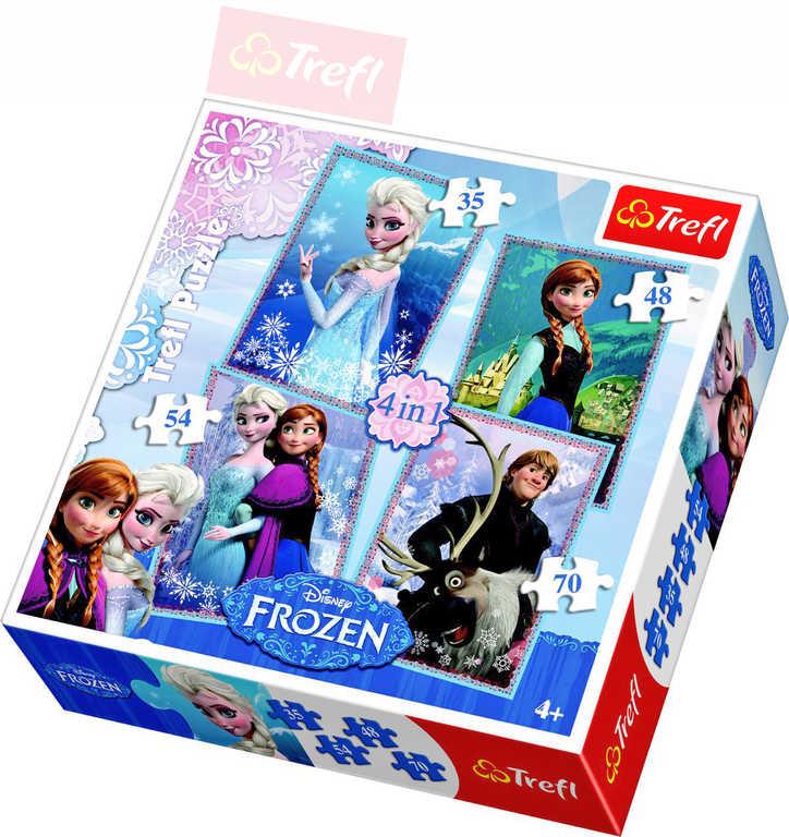 TREFL PUZZLE 4v1 Frozen (Ledové Království) 207 dílků skládačka 134210