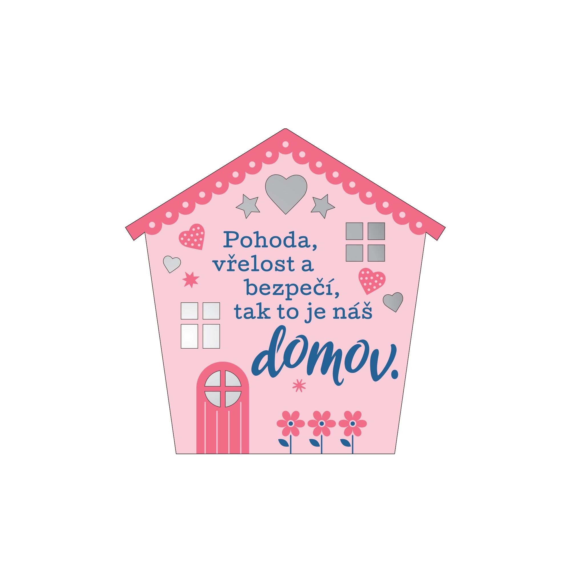 Plaketka dům - Náš domov