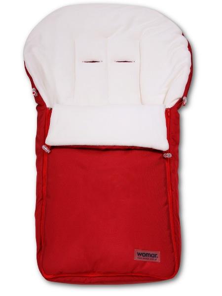 Fusák Womar – fleece - červený - červená