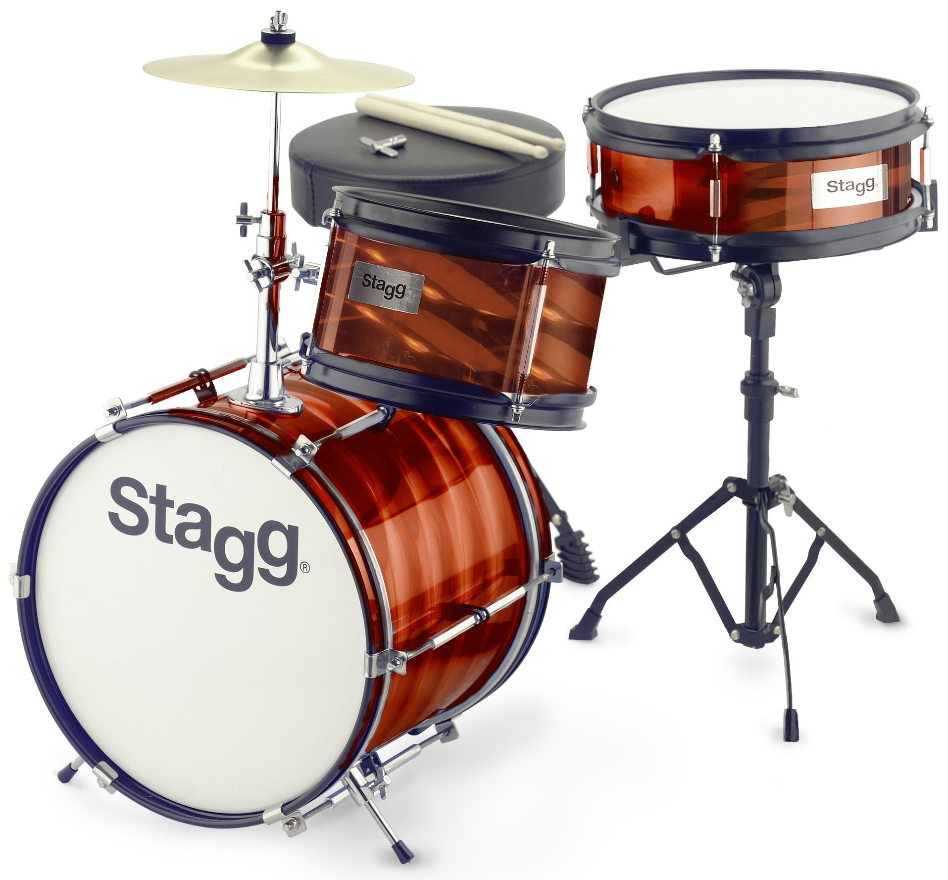 Stagg TIM JR 3/12B RD, dětská bicí sada, červená