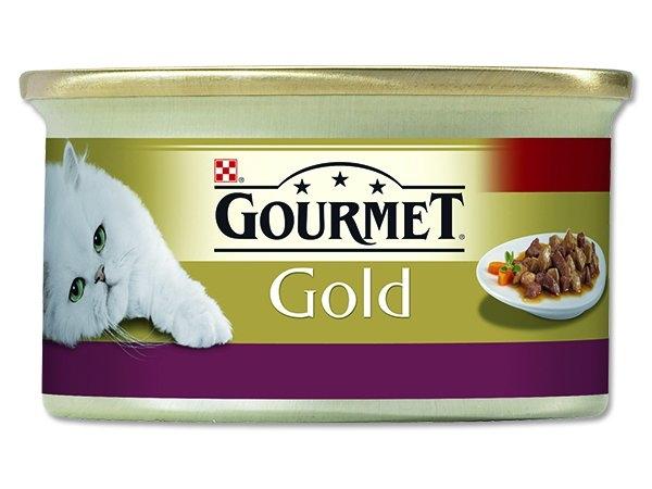Gold kousky ve šťávě s lososem a kuřetem 85 g