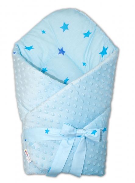 baby-nellys-oboustranna-zavinovacka-na-zavazovani-75x75cm-minky-baby-stars-sv-modra-k19