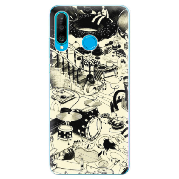 Odolné silikonové pouzdro iSaprio - Underground - Huawei P30 Lite