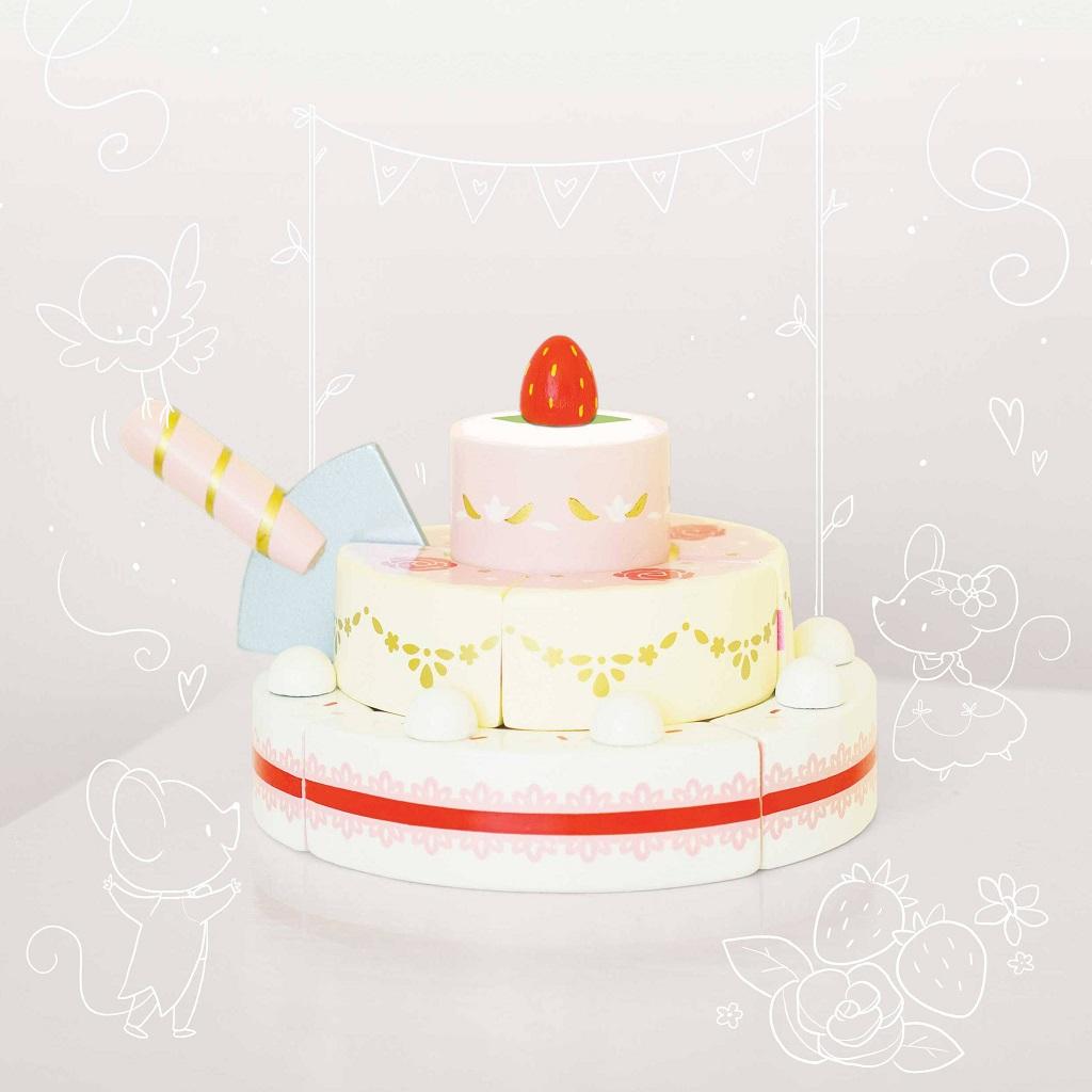Le Toy Van Jahodový svatební dort
