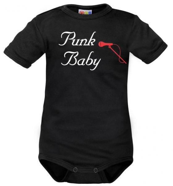 body-kratky-rukav-dejna-punk-baby-cerne-vel-86-86-12-18m
