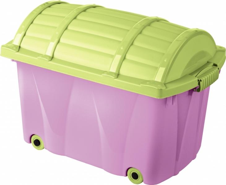 Keeeper Plastový box na kolečkách - 42l - fialový