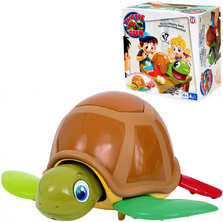 Hra Turtle Fun želva zábavná plastová 22cm s vajíčky 22cm na baterie Zvuk