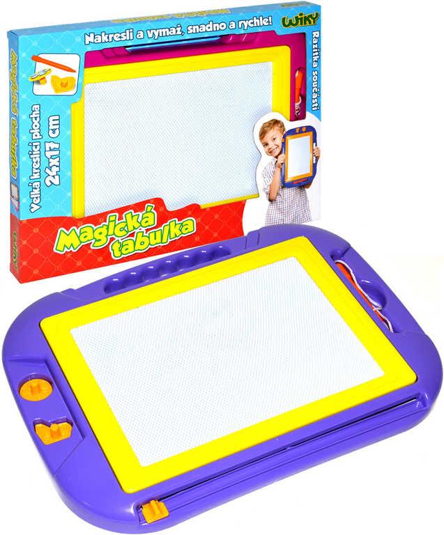 Tabulka dětská magická kreslicí 40x29cm 2 barvy set se 2 razítky