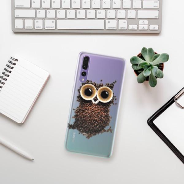 Silikonové pouzdro iSaprio - Owl And Coffee - Huawei P20 Pro