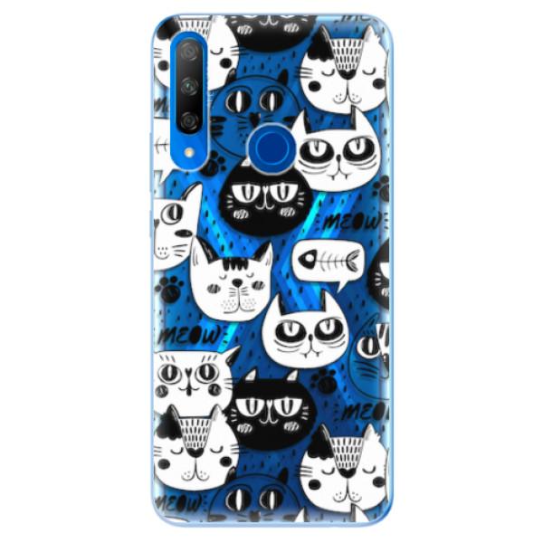 Odolné silikonové pouzdro iSaprio - Cat pattern 03 - Huawei Honor 9X