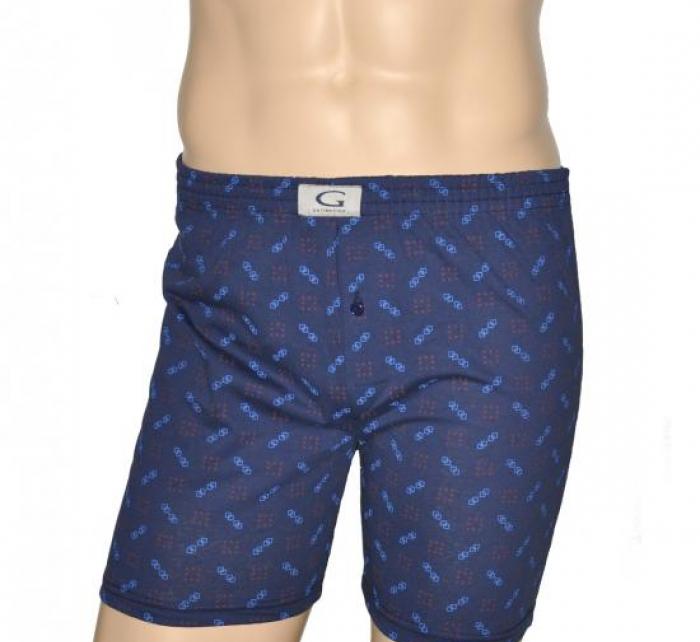 Pánské boxerky 013 různé vzory - Gucio - Modrá s potiskem/XL
