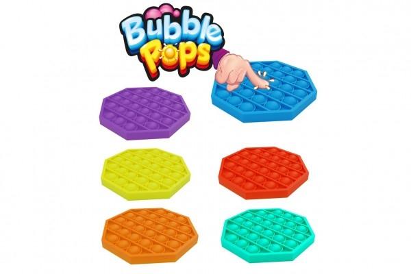 Bubble pops - Praskající bubliny silikon antistresová spol. hra oranžová 12,5x12,5cm