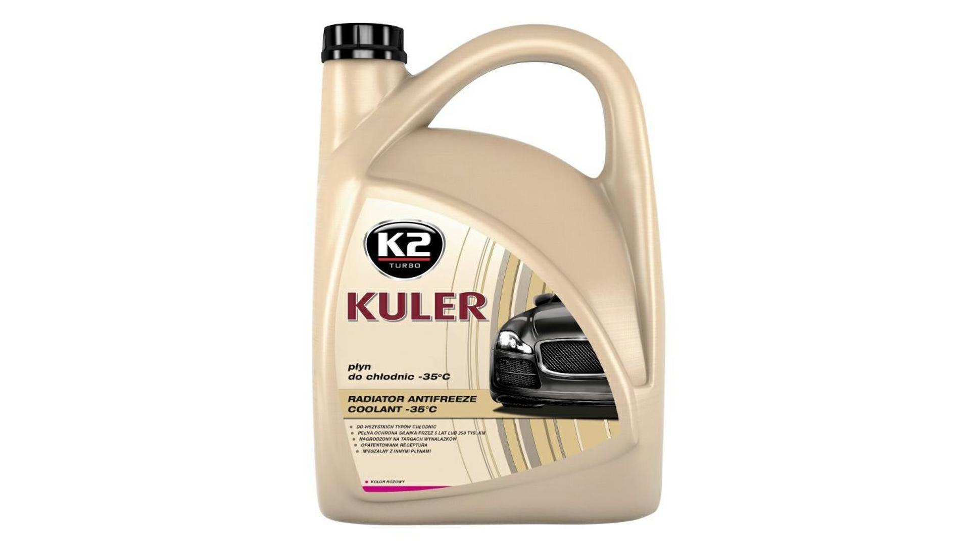 K2 KULER RŮŽOVÁ 5l - nemrznoucí kapalina do chladiče do -35 °C