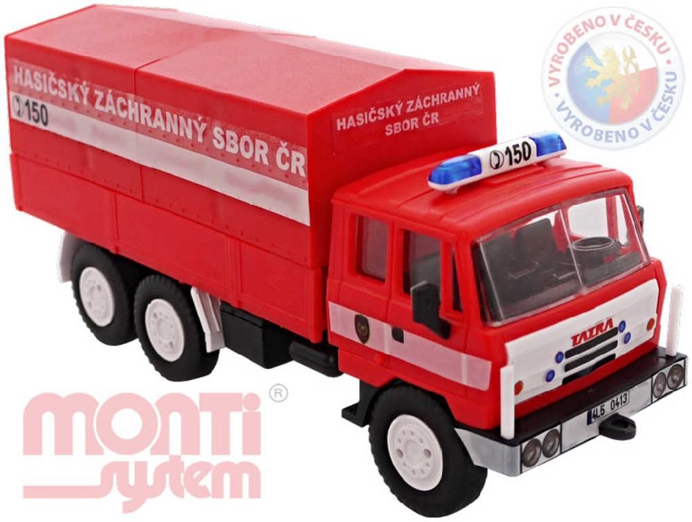 SEVA Monti System 74 HZS Hasičský záchranný sbor ČR Tatra 815 stavebnice MS74 0104-74