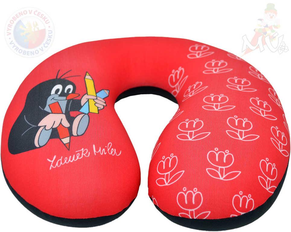 MORAVSKÁ ÚSTŘEDNA Zákrčník červený krtek (Krteček) 24x23cm opěrka hlavy