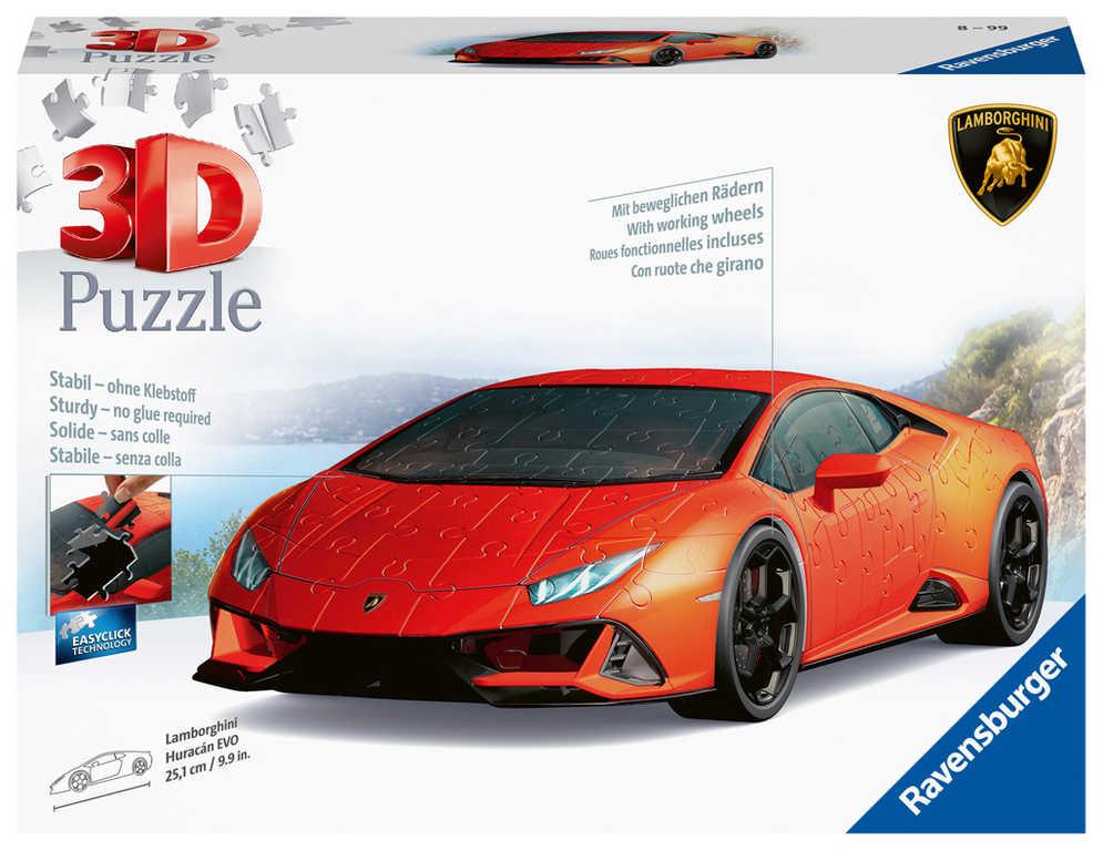 RAVENSBURGER Puzzle 3D Lamborghini Huracan Evo 108 dílků