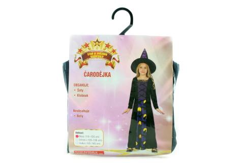 Šaty - Čarodějka, 110 - 120 cm