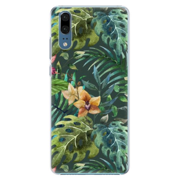 Plastové pouzdro iSaprio - Tropical Green 02 - Huawei P20