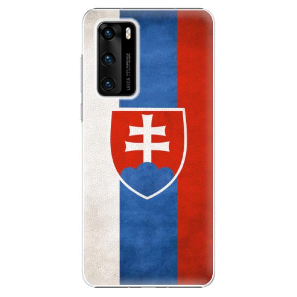 Plastové pouzdro iSaprio - Slovakia Flag - Huawei P40