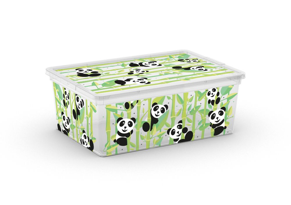 Plastový úložný box KIS C ANIMAL - S - medvídek panda