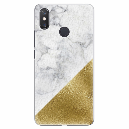 Plastový kryt iSaprio - Gold and WH Marble - Xiaomi Mi Max 3