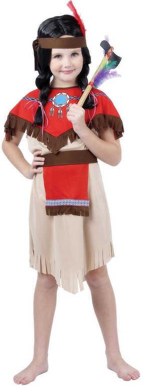 KARNEVAL Šaty Indiánka vel.S (110-120cm) 4-6 let KOSTÝM