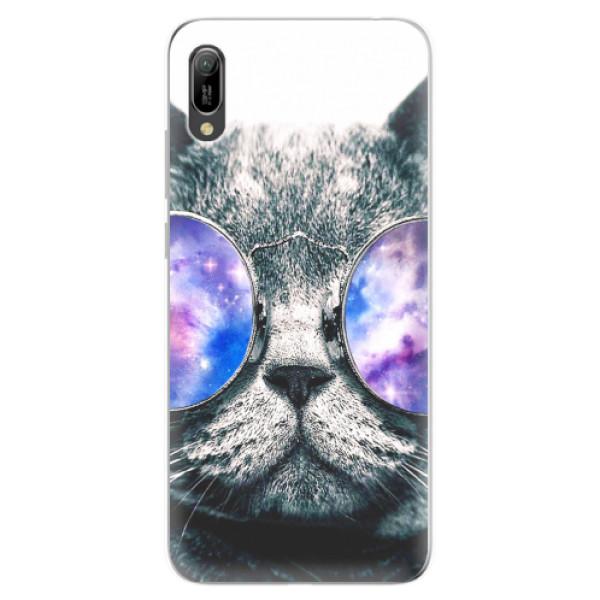 Odolné silikonové pouzdro iSaprio - Galaxy Cat - Huawei Y6 2019