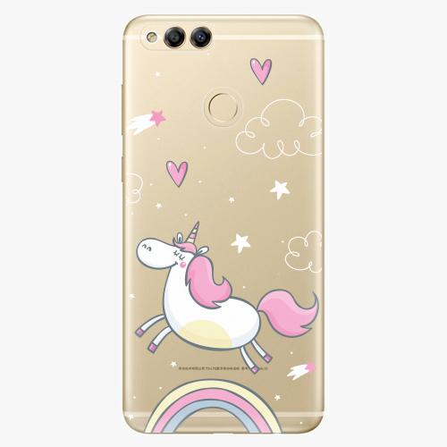 Plastový kryt iSaprio - Unicorn 01 - Huawei Honor 7X