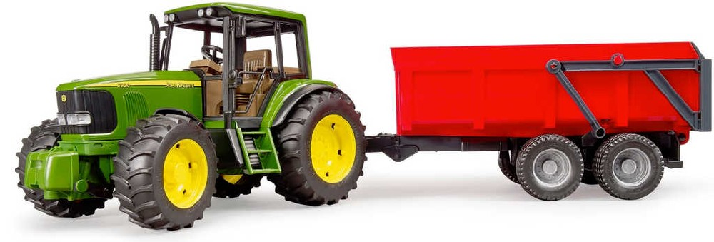 BRUDER 02057 (2057) Set traktor John Deere 6920 + sklápěcí valník červený