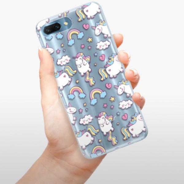 Silikonové pouzdro iSaprio - Unicorn pattern 02 - Huawei Honor 10