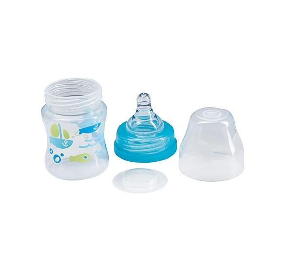 BabyOno Antikoliková lahev se širokým hrdlem, 120ml - mátová