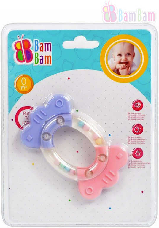 ET BAM BAM Baby chrastítko BONBON kousátko pro miminko