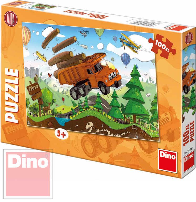 DINO Puzzle XL Tatra na cestách 47x33cm 100 dílků v krabici