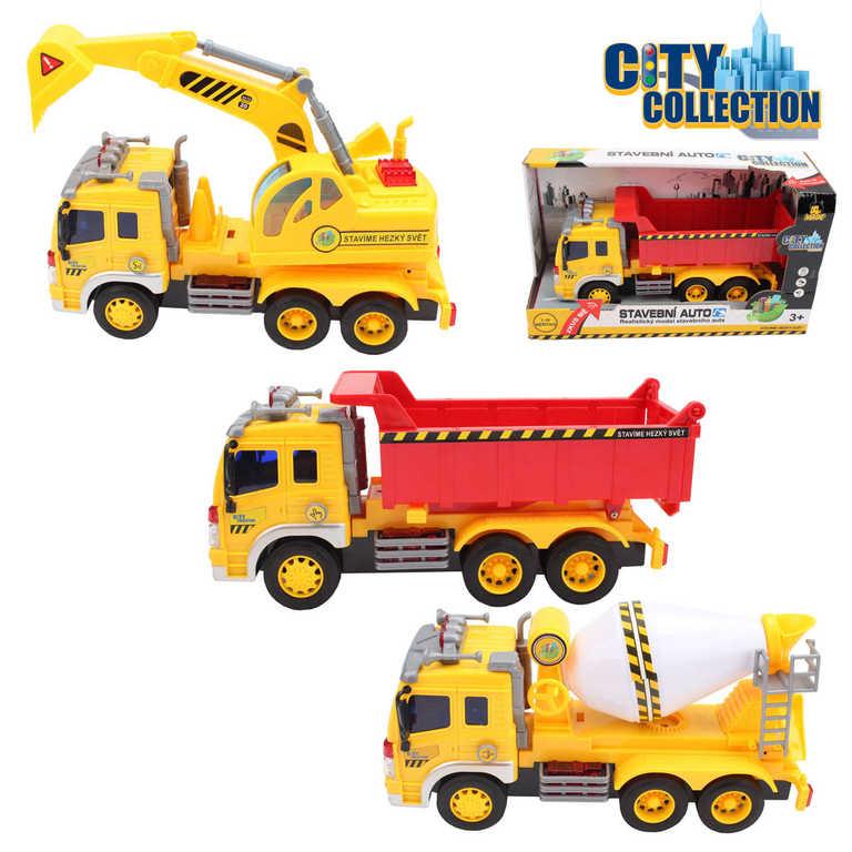 CITY COLLECTION Auta stavební na setrvačník se zvukem a světlem