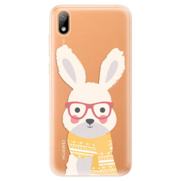 Odolné silikonové pouzdro iSaprio - Smart Rabbit - Huawei Y5 2019