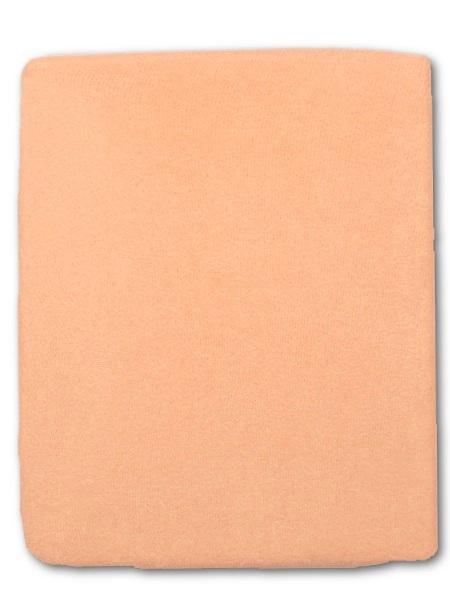 Froté prostěradlo do postýlky - oranžová